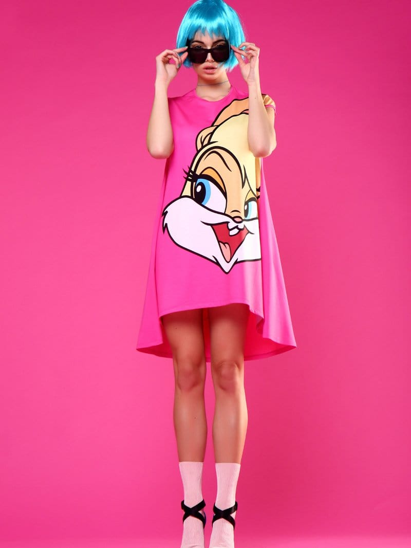 Cartoon Long T-shirt Dress