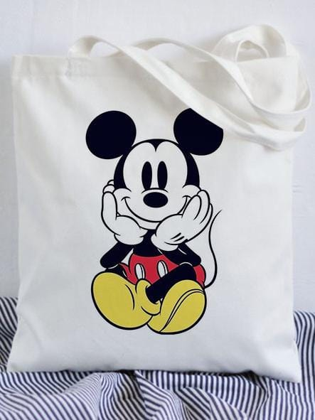 Cute Mickey Canvas Single-Shoulder Bag