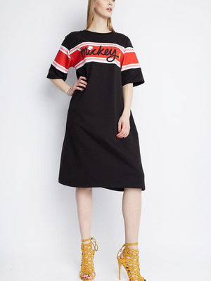 Letter Long  T-shirt Dress