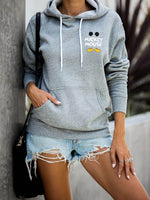 Mickey Mouse Hooded Long-Sleeved Pocket Hoodie