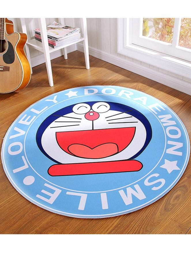 Cartoon Printed Household Children's Round Mat