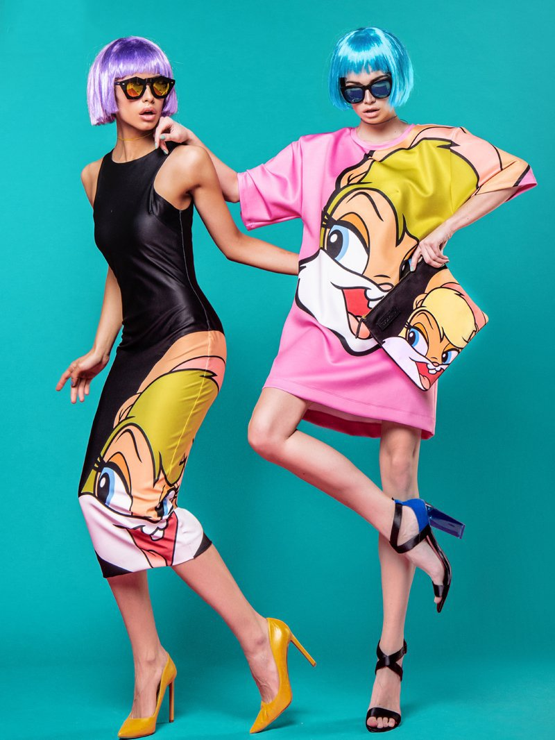 Cartoon Printing Slim Dress