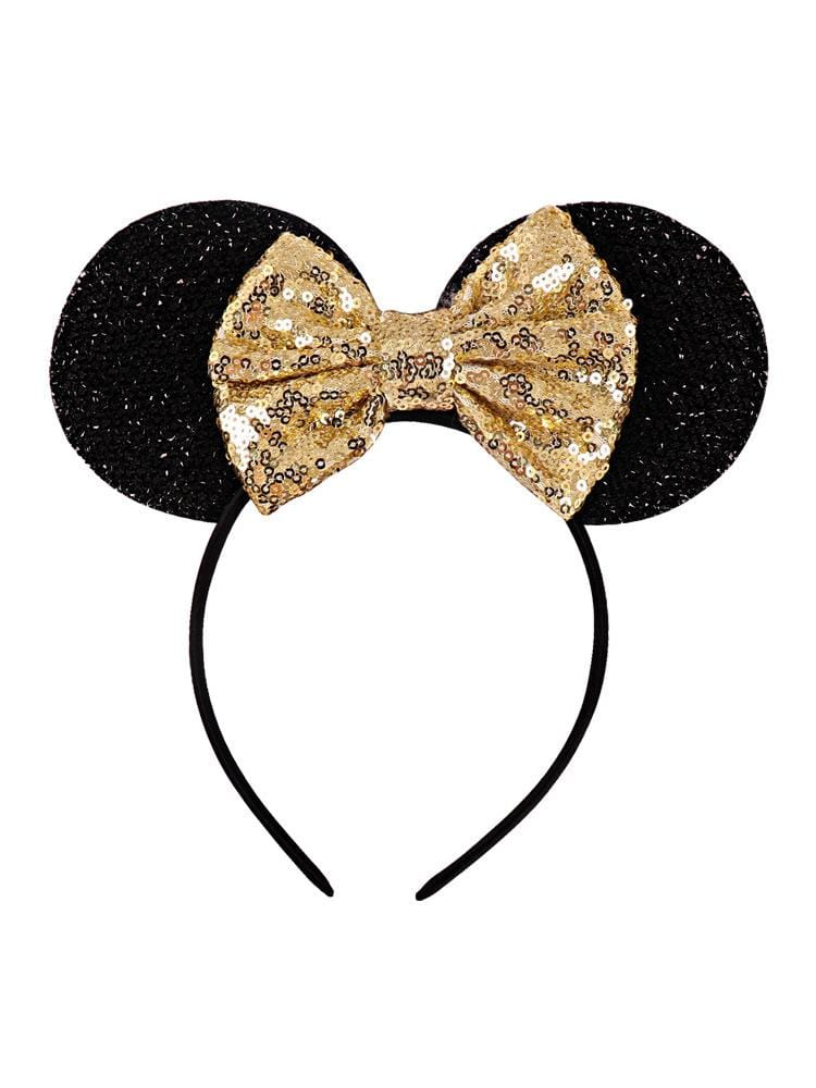 Mickey Mouse ear styling sequins big bow holiday headband hair ornaments