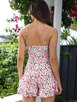 Rippled Edge  Flower Jumpsuits
