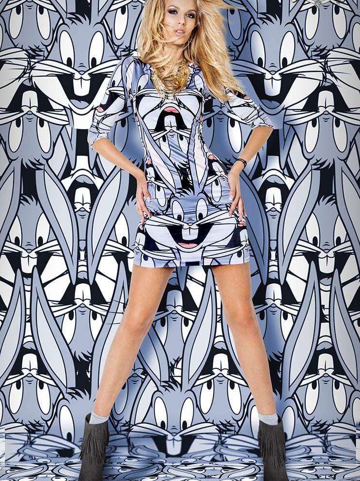 Bugs Bunny Long Sleeve Slim Dress