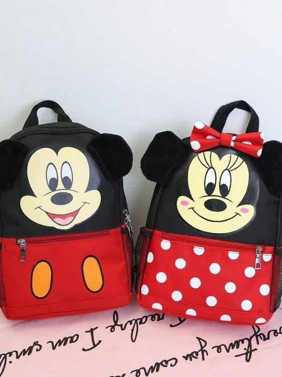 Mickey Mouse Cute Bow Backpack