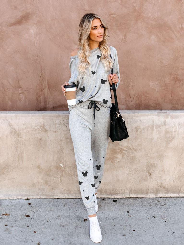 Disney Long-Sleeved T-shirt + Pants Sport Suit