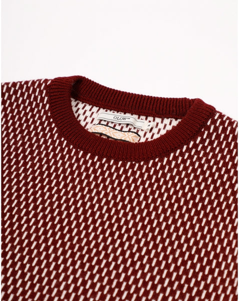 Burgundy Averse Jumper