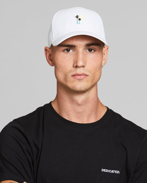 Sport Cap Sunset Palm White