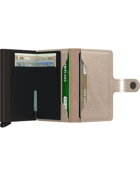 Miniwallet Metallic Champagne Brown