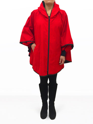 PONCHO CLASSIC, Red.
