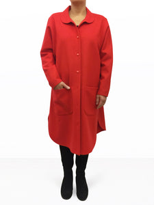 Wool Coat Red
