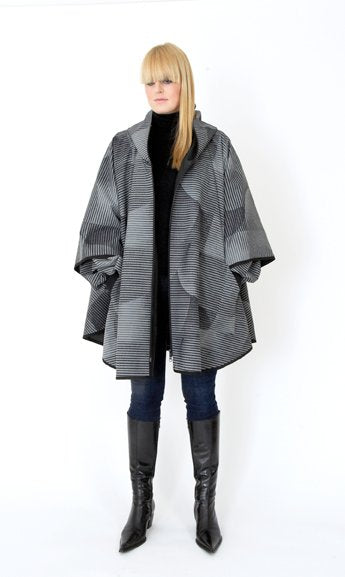 PONCHO CLOUD grey