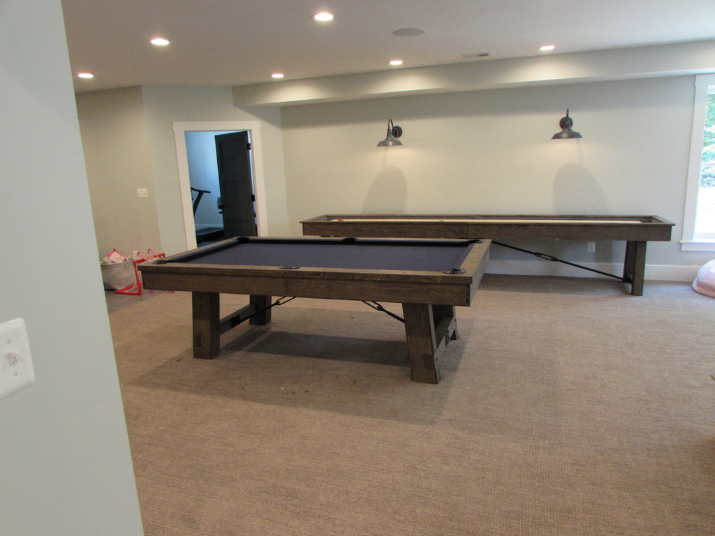Plank and Hide Pool Table and Shuffleboard Installed in Vienna Virginia