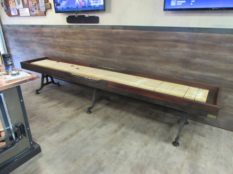 Restoration Iron Shuffleboard Table installed in Frederick Maryland
