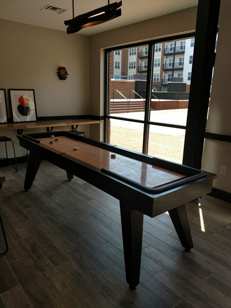 California House Austin Shuffleboard installed in McClean Virginia