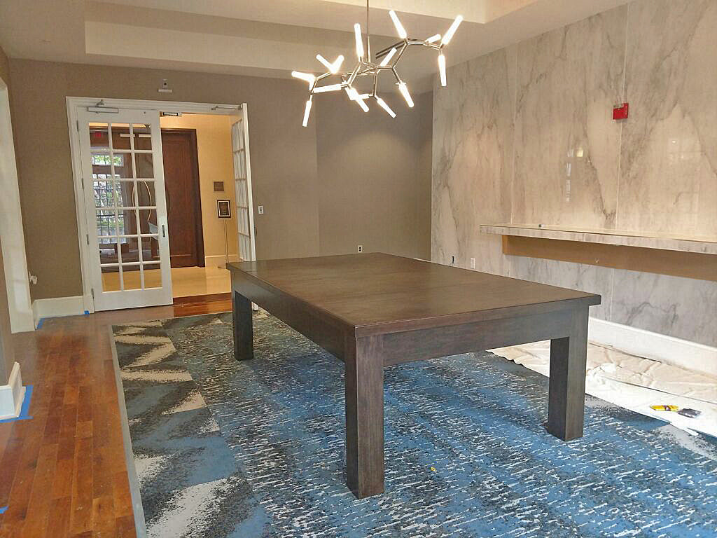 Robbies Custom Dining Pool Table Installed in Dulles Virginia
