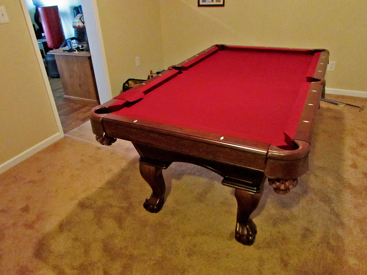 Olhausen Gabriel Pool Table installed in Garrett Park Maryland