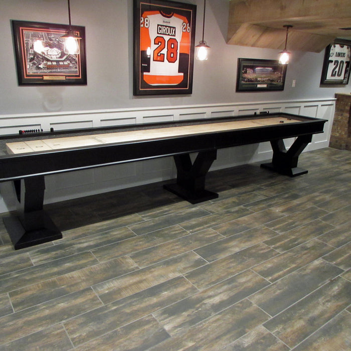 Plank and Hide Gaston Shuffleboard installed in Tysons Corner VA