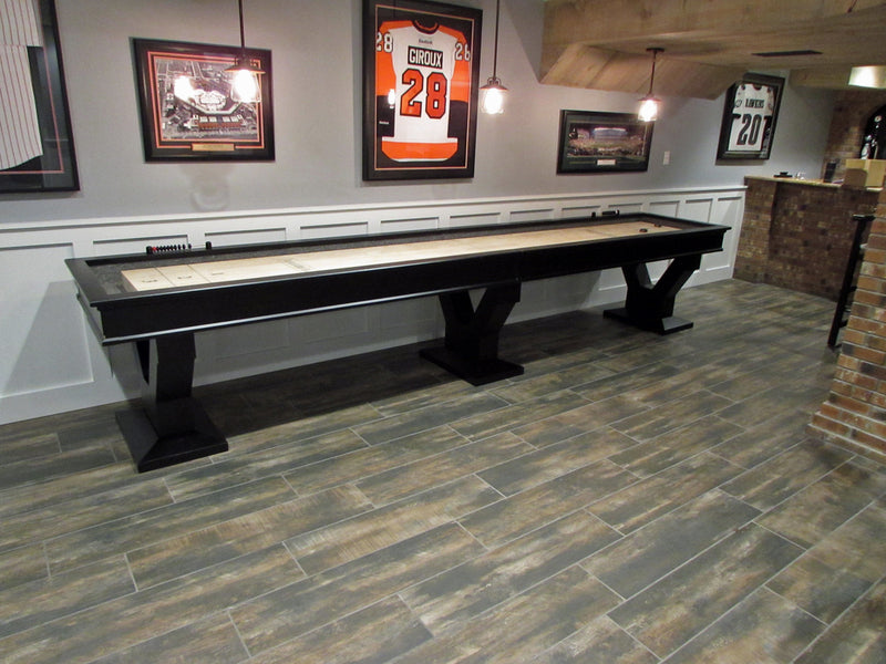 Plank And Hide Gaston Shuffleboard Installed In Tysons