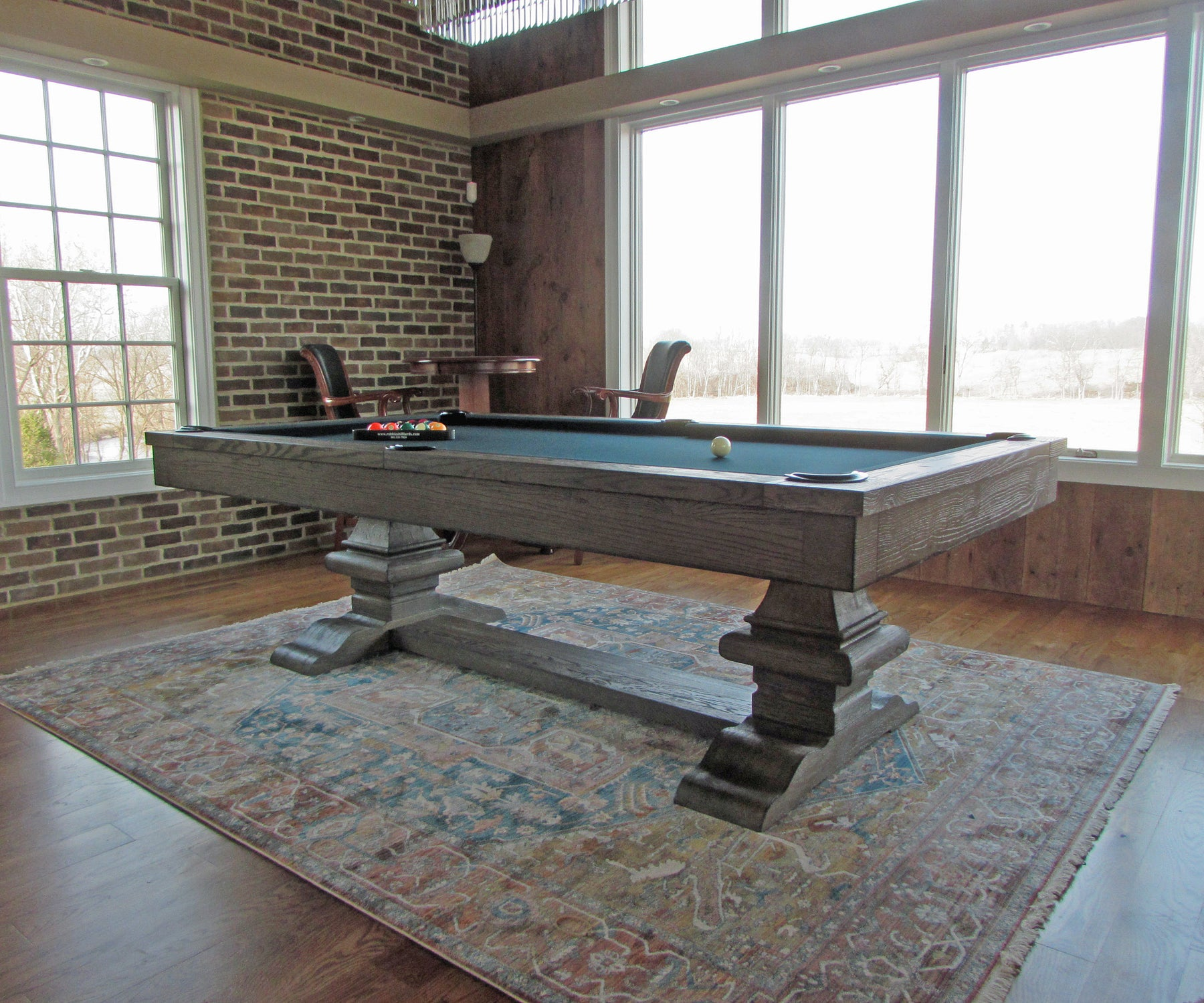 Plank and Hide Beaumont Pool Table installed in Arlington Virginia