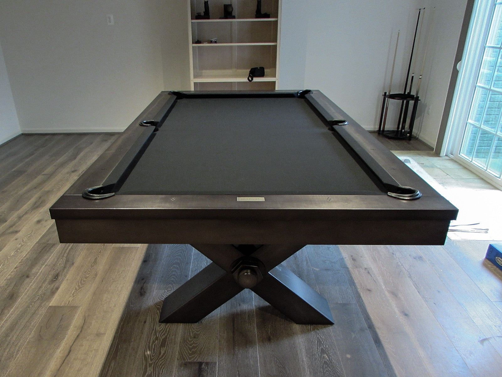 Plank and Hide Vox Pool Table installed in Rockville Maryland