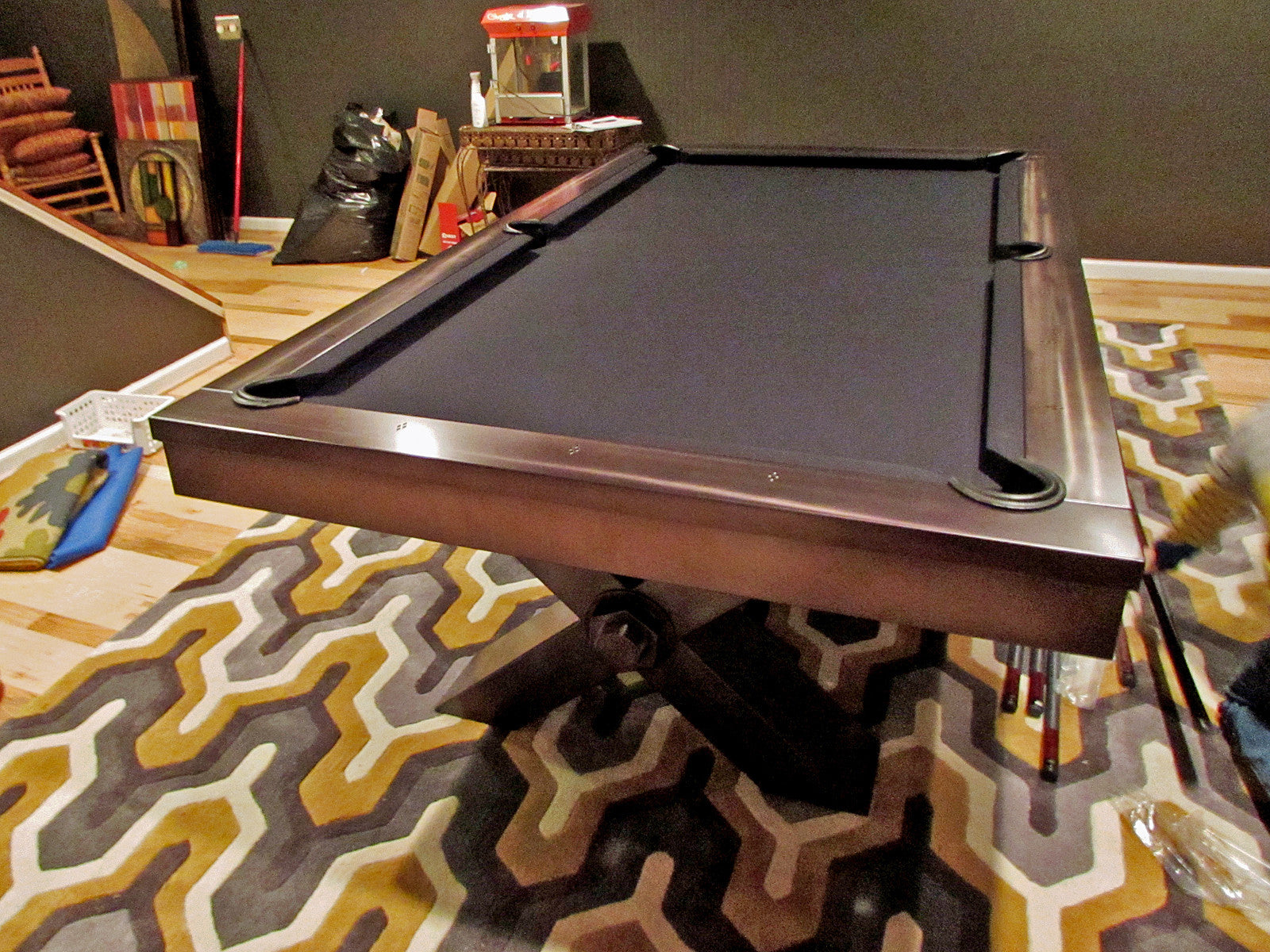 Plank and Hide Vox Pool Table installed in Gambrills Maryland