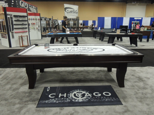 olhausen chicago pool table with modern rails