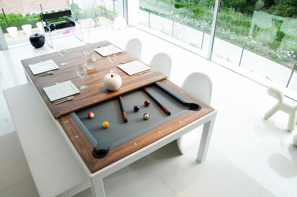 aramith dining pool table fusion walnut