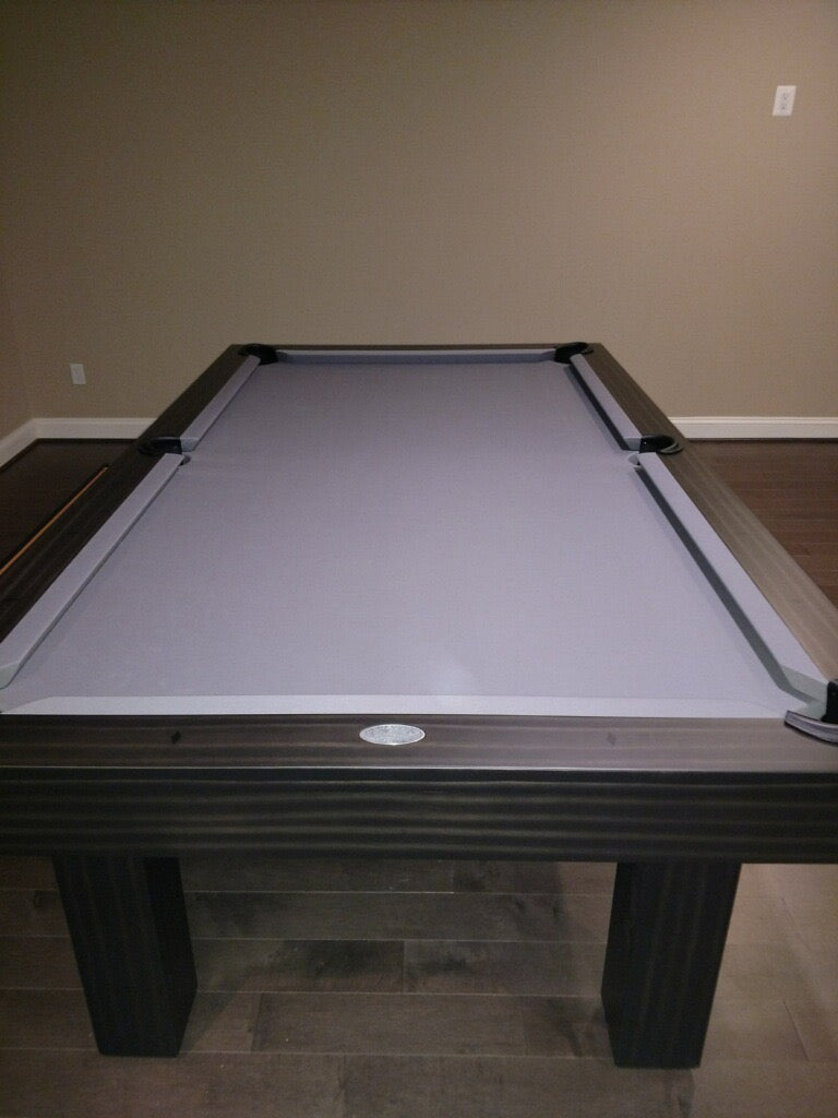 olhausen west end pool table matte charcoal head rail