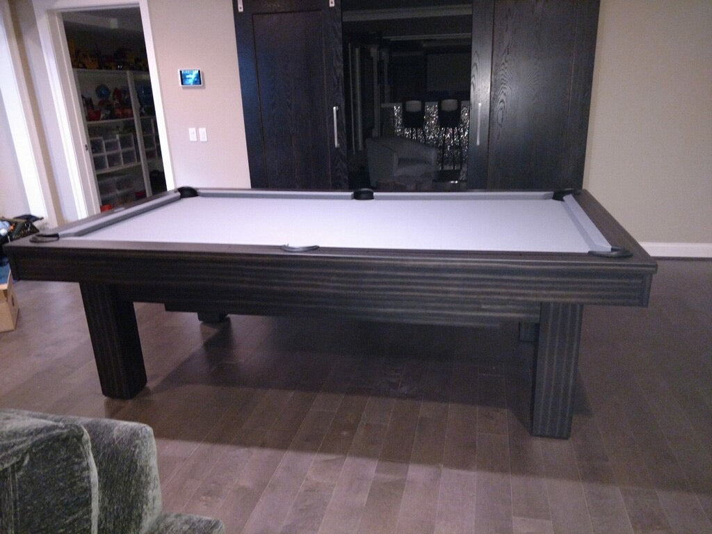 olhausen west end pool table matte charcoal side