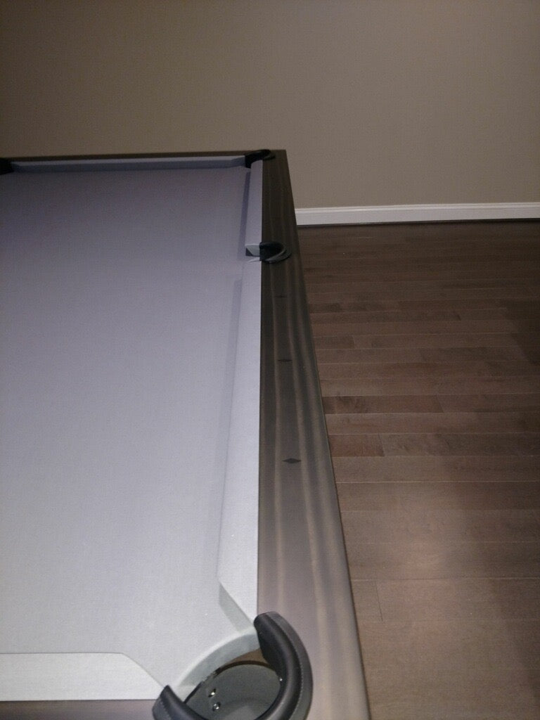 olhausen west end pool table matte charcoal rail detail