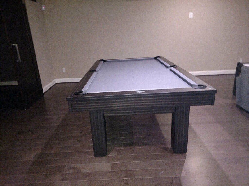 olhausen west end pool table matte charcoal end