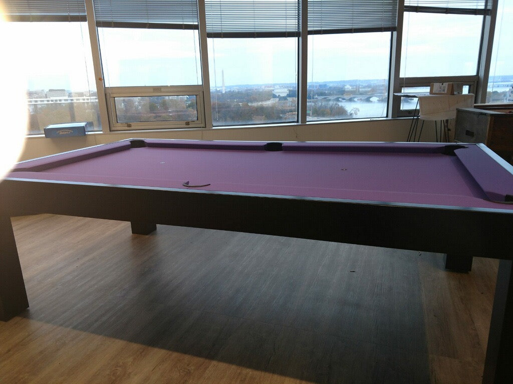 Dream pool table purple felt side view