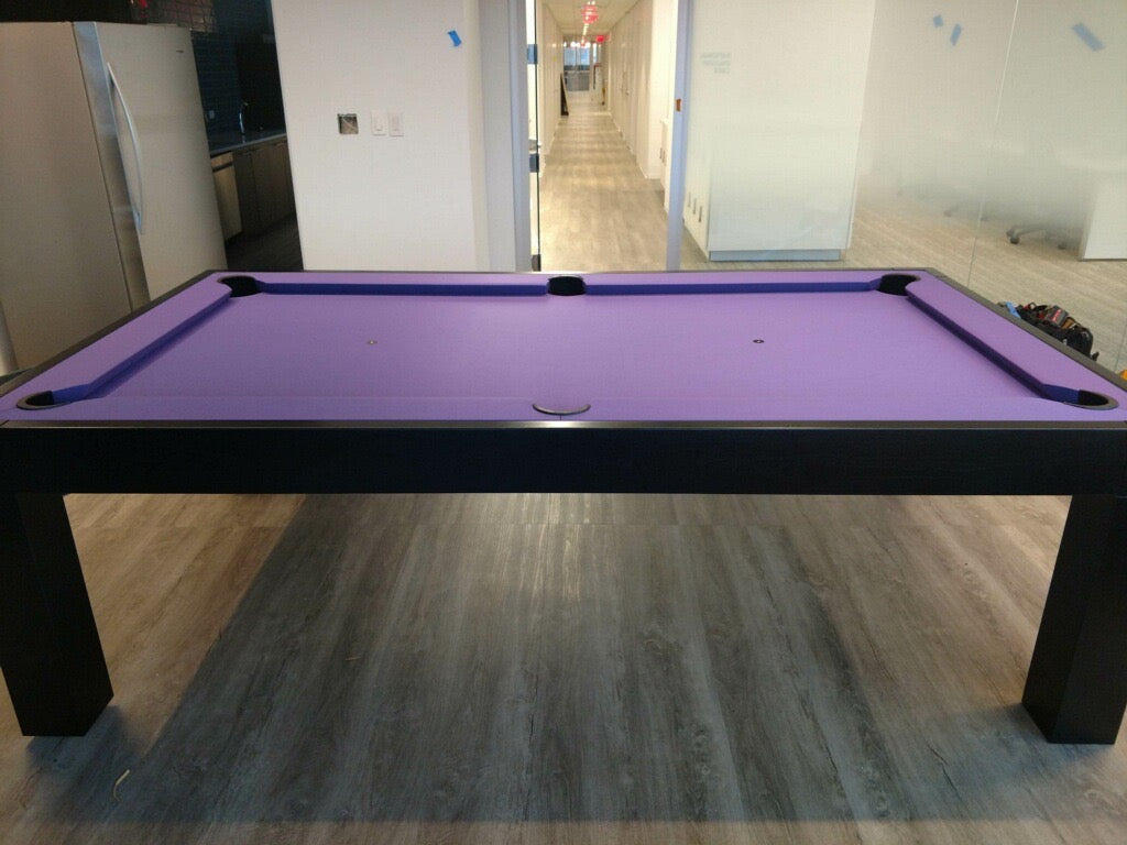 Dream pool table purple felt detail