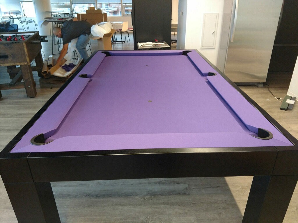 Dream pool table purple felt