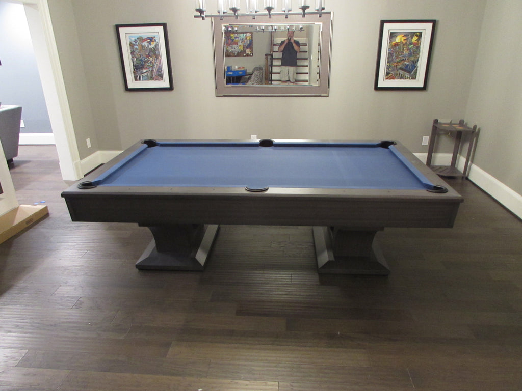 olhausen alexandria pool table matte smoke side