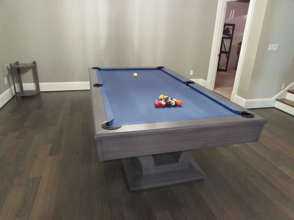 olhausen alexandria pool table matte smoke end