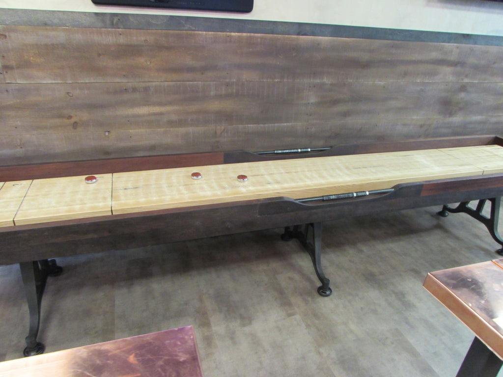 restoration iron shuffleboard table frederick maryland detail