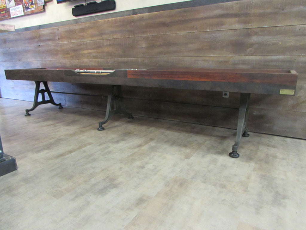restoration iron shuffleboard table frederick maryland leg