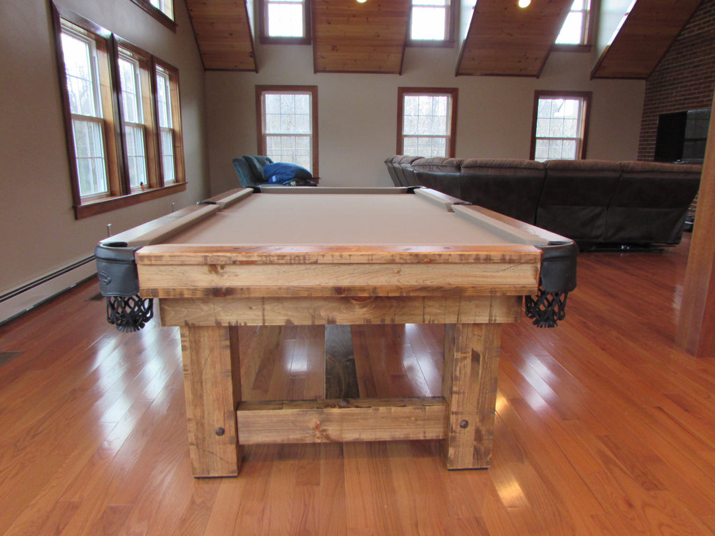 Olhausen timber ridge pool table end