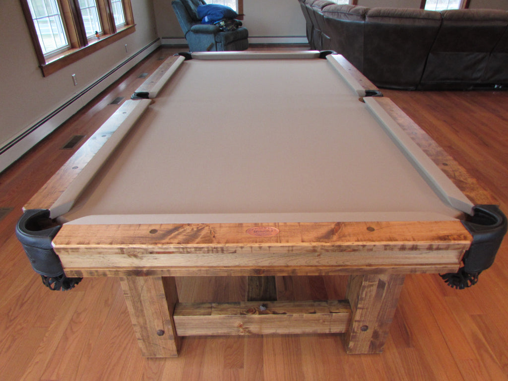 Olhausen timber ridge pool table detail