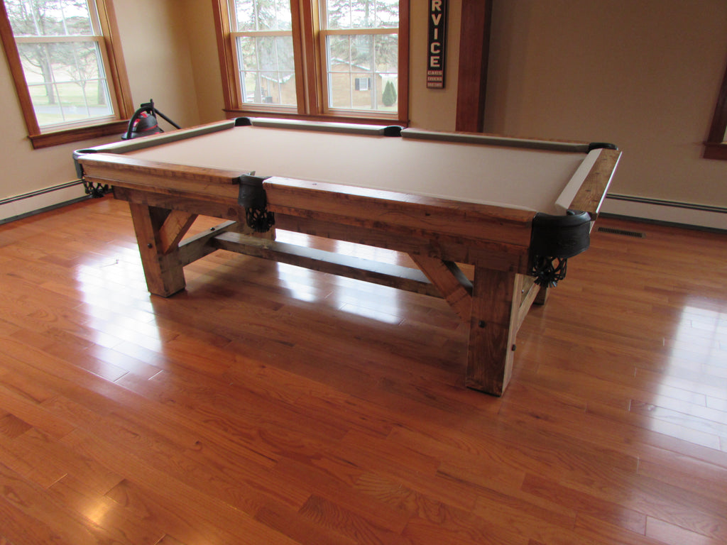 Olhausen timber ridge pool table side