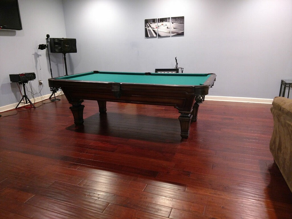 Olhausen hampton pool table heritage cherry finish 1