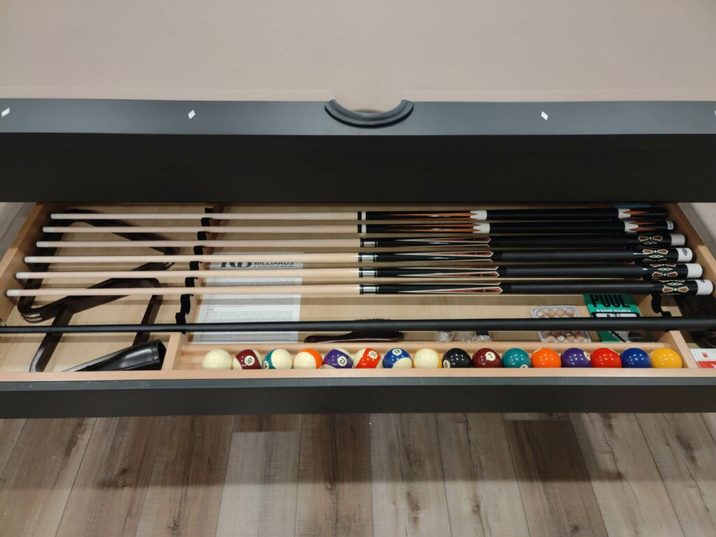 olhausen west end pool table drawer detail