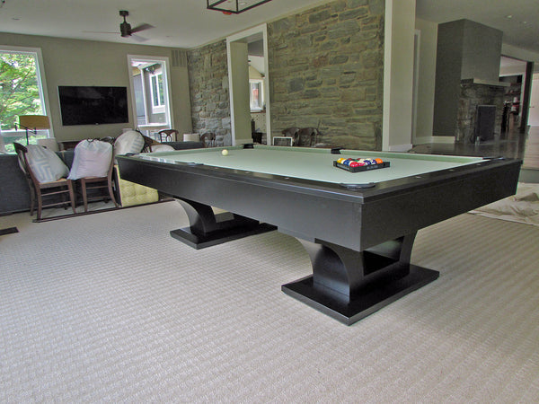 olhausen alexandria pool table satin black lacquer room