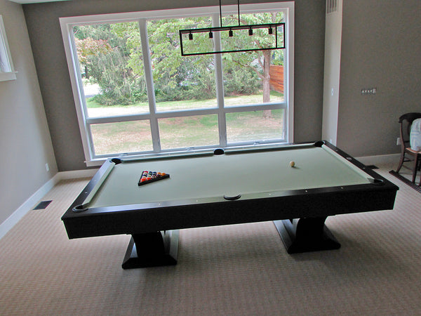 olhausen alexandria pool table top view black lacquer
