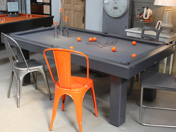 billards toulet broadway dining pool table grey lacquer