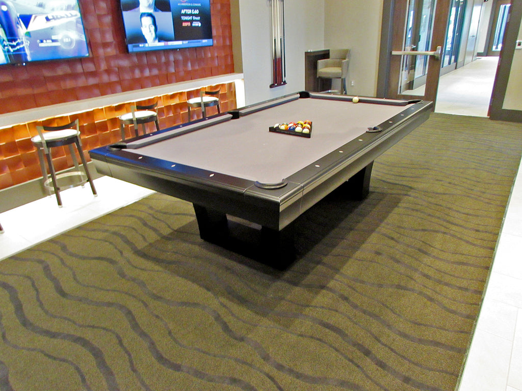 california house city pool table espresso bankers grey cloth