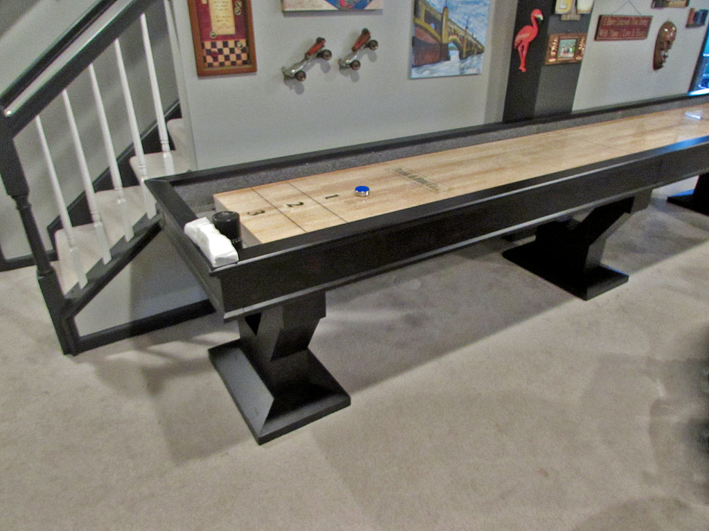 plank and hide gaston shuffleboard table 14'